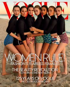 Cover with Liu Wen Kendall Jenner Imaan Hammam Adwoa Aboah Vittoria Ceretti Gigi Hadid Ashley Graham March 2017 of US based magazine Vogue USA from Condé Nast Publications including details. Kendall Jenner Gigi Hadid, Kendall Jenner Outfits, Vogue Covers, Fashion Magazine Cover, Vogue Magazine, Magazine Covers, Fashion Cover, Ashley Graham Vogue, Ashley Graham Cover