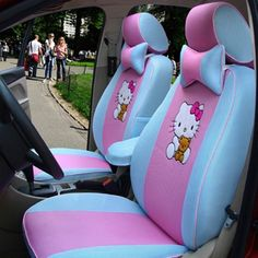 New Custom Version 12 PCs Hello Kitty Blue and Pink Car Seat Covers Bow Pillows Interior Design Colleges, Boutique Interior Design, Pink Car Seat Covers, Hello Kitty Car, Bow Pillows, Home Decor Near Me, Shopping Near Me, Luxury Vinyl Plank, Autumn Home