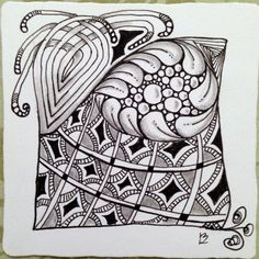 I'm a Diva Zentangle Challenge 192 using tangles Seton, Flux, Mooka, and Paradox. Created by Lucy Banta, http://tangadoodletoo.com