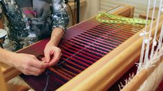 Warped for Good - twisting a fringe whilst on the loom