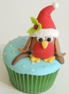 Christmas Samples Sample Christmas cupcake for our Christmas class Owl Cupcakes, Baking Cupcakes, Yummy Cupcakes, Cupcake Cookies, Christmas Owls, Christmas Goodies, Christmas Baking, Christmas Time, Christmas Deserts