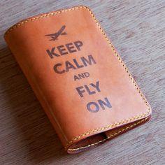 Vickerman Christmas Tree Leather Passport Holder Cover Case Blocking Travel Wallet