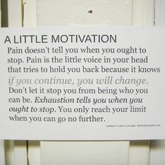 A little motivation to hold on