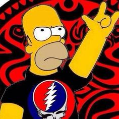 Homer actually looks too angry to be at a Dead Show! Grateful Dead Shows, Grateful Dead Image, Grateful Dead Dancing Bears, Grateful Dead Music, Dead Images, Forever Grateful, Rockn Roll, Cool Bands, Cool Art