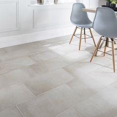 carrelage_sol_et_mur_ficelle_effet_beton_time_l_30_x_l_60_cm Charny, House, Ceramics, Tile Floor, Deco, New Homes, Home Decor, Ceramic Kitchen, Flooring
