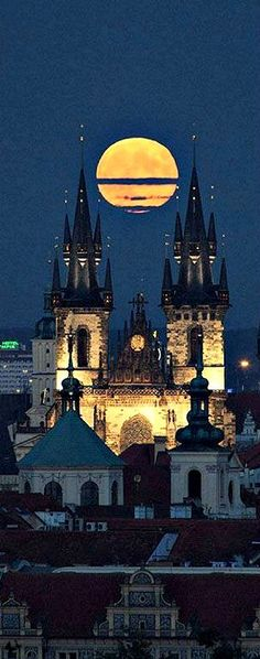 Prague-full moon