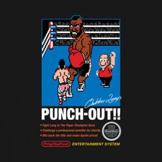 #Nintendo: Mike Tyson's Punch-Out!! / #Rocky III mashup t-shirt.