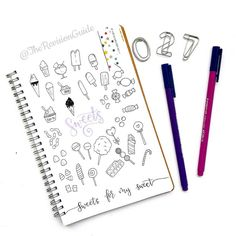 Day 27 of  #THE100DAYPROJECT - sweets and candy doodle icons ©TheRevisionGuide Doodles and lettering from instagram.com/therevisionguide