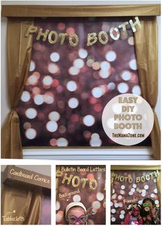 Diy photobooth wrapping paper backdrop super easy and way easy inexpensive diy party photo booth solutioingenieria Choice Image