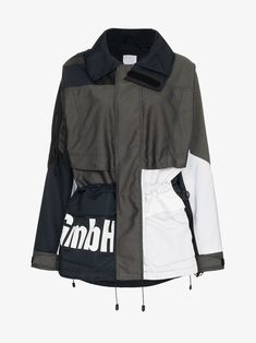Shop GmbH x Browns Jeenu logo print drawstring anorak jacket from our Trench & Raincoats collection. Anorak Jacket, Drawstring Waist, Size Clothing, Stretch Fabric, Adidas Jacket, Raincoat, Brown, Long Sleeve, How To Wear