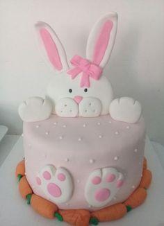 Ideas cake recipes easter kids for 2019 Bunny Birthday Cake, Toddler Birthday Cakes, Easter Bunny Cake, Homemade Birthday Cakes, Easter Cookies, Bunny Cakes, Easter Cake Icing Ideas, Easter Ideas, Easter Cake Fondant