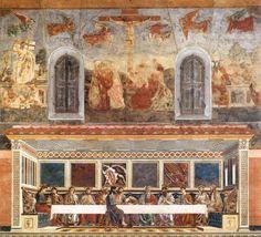 Andrea del Castagno, Ultima cena, 1447-1449, Firenze, Cenacolo di S. Apollonia