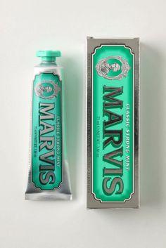 Marvis, Italian toothpaste #emerald #coloroftheyear