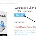 SuperEasy 1-Click Backup gratis per 3 giorni