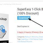 SuperEasy 1-Click Backup gratis per 3 giorni