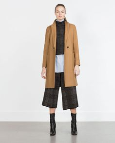 Image 1 of WOOL COAT WITH LAPELS from Zara