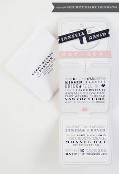 wedding invitation by secret diary designs