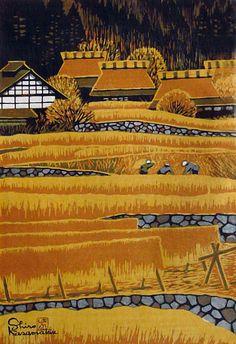 Shiro Kasamatsu, Ohara in Autumn on ArtStack #shiro-kasamatsu #art