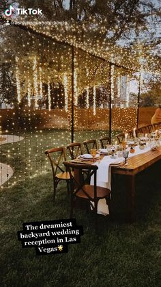 Backyard Wedding Decorations, Wedding Ideas In Backyard, Outdoor Wedding Theme, Backyard Wedding Receptions, Small Backyard Weddings, Outdoor Wedding Lights, Backyard Party Lighting, Small Wedding Decor, Whimsical Wedding Theme