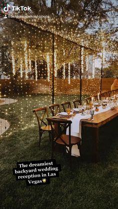 Wedding Goals, Our Wedding, Wedding Planning, Dream Wedding, Wedding With Lights, Wedding String Lights, Outdoor Wedding Lights, Long Wedding Tables, Christmas Lights Wedding