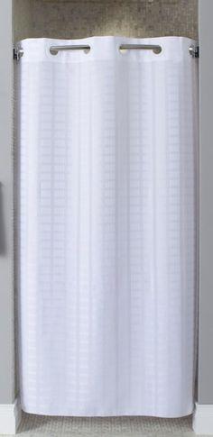 "Litchfield Hookless Fabric Stall Shower Curtain (42"" x 74"") $25.95"