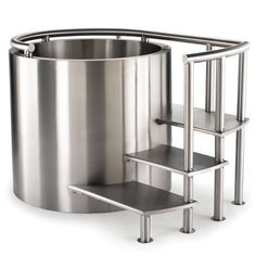The Stainless Steel Ofuro. They can't fool me this is just a giant deep fryer for people, how horrible. On the other hand you could also fry a whole cow, getting it up the stairs would be hard though.
