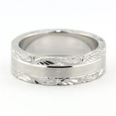 Men's Wedding Band - Love – Moissanite Rings