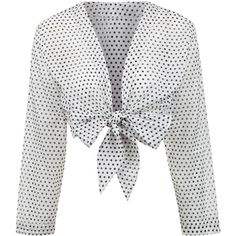 3ed19e913a5 Lisa Marie Fernandez White Polka Dot Tie Blouse ( 475) ❤ liked on Polyvore  featuring tops