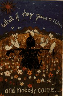 1969 Vietnam anti-war poster  What If They Gave a War and Nobody Came...