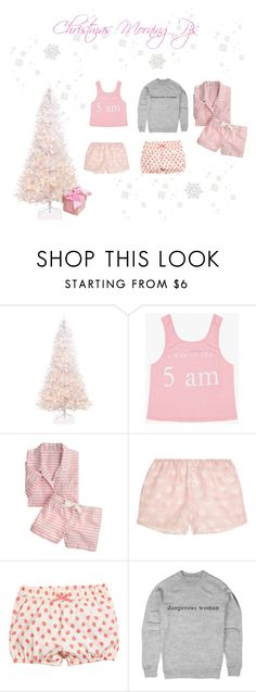"""♡ Girly Christmas Morning Pjs #2  ♡"" by kaylalovesowls ❤ liked on Polyvore featuring Holiday Lane, J.Crew and Rosamosario"