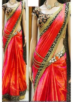 Bollywood Replica - Party Wear Red Saree - 1024-C