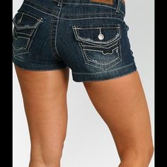 """Free Culture Denim Shorts Sport these super trendy and super sexy shorts all summer long. Perfect for off that superb summer tan on your legs. Pair with tank or tee and beach sandals or a halter or tube top with some heels for a trendy summer look. No matter the occasion, you will super hot!nHigh quality.mBeautifully made.   Approx. measurements:  Style 98SH:  0- Waist 26"""", Length 8"""", Inseam 2"""", Leg opening 20""""  86%Cotton 12%Polyester 2%Spandex.  MORE SIZES AND STYLES AVAILABLE. PLEASE CHECK…"""