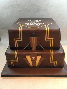 Chocolate art deco cake