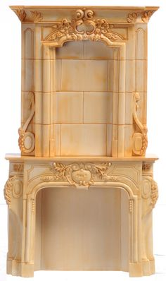 Elegant Ivory Fireplace | Mary's Dollhouse Miniatures