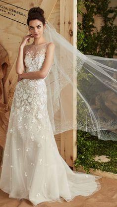 Featured Dress: Carolina Herrera; Wedding dress idea.
