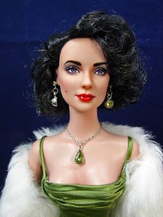 Daphne as Liz Taylor - Limited Edition Cannes Opening Daphne, wears a recreation of an Elizabeth Taylor dress. Repainted by Just Creations.