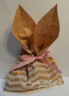 Thoughts That Stick..... : Bunny Ear Bags