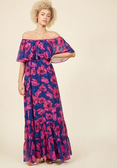 Floral maxi and off the shoulder !!