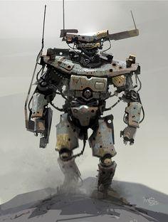 Military Robot, Future, Sci-Fi, Futuristic, IAN MCQUE | CONCEPT ART