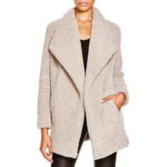 Bb Dakota Faux Shearling Coat (7,430 MKD) ❤ liked on Polyvore featuring outerwear, coats, pale camel, faux shearling coat, bb dakota coat, bb dakota, pink coat and camel coat