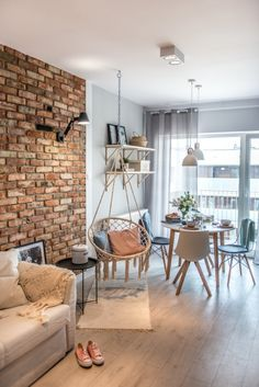 Home Living Room, Living Room Designs, Decorative Stone Wall, Home Interior Design, Interior Decorating, Flat Ideas, Home Kitchens, Sweet Home, Room Decor