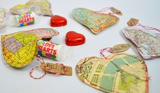 Personalised Treat Map Hearts for Valentines