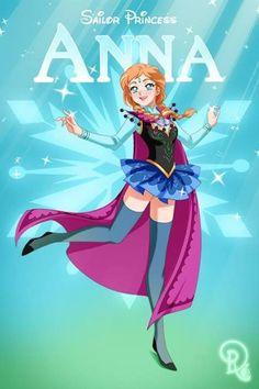 Sailor Moon / Disney Mash-up - Anna (Frozen)