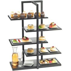 New 3 Tier Buffet Server 3 Stoneware Serving Platter Trays ...