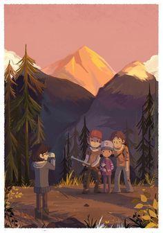 The Walking Dead. Season 2. Clementine, Luke, and Nick