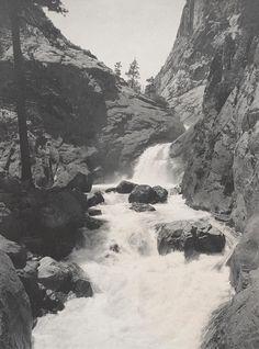ANSEL ADAMS  1902 - 1984 Roaring River Falls, Kings Canyon National Park, California Date:1925