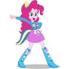 Pinkie Pie EqG Wondercolts Pose by CaliAzian ❤ liked on Polyvore
