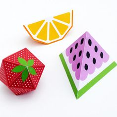 3d fruit frenzy Free Printable Crafts for Kids