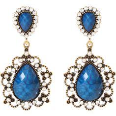 Amrita Singh Amagansett Earrings ($100) ❤ liked on Polyvore