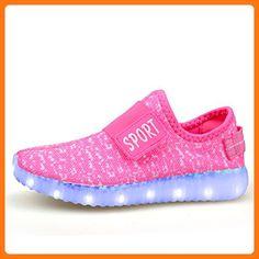 O&N LED Schuh USB Aufladen Leuchtend Sport Schuhe Sneakers Leichtbau Kokosnuss Schuhe fuer Kinder